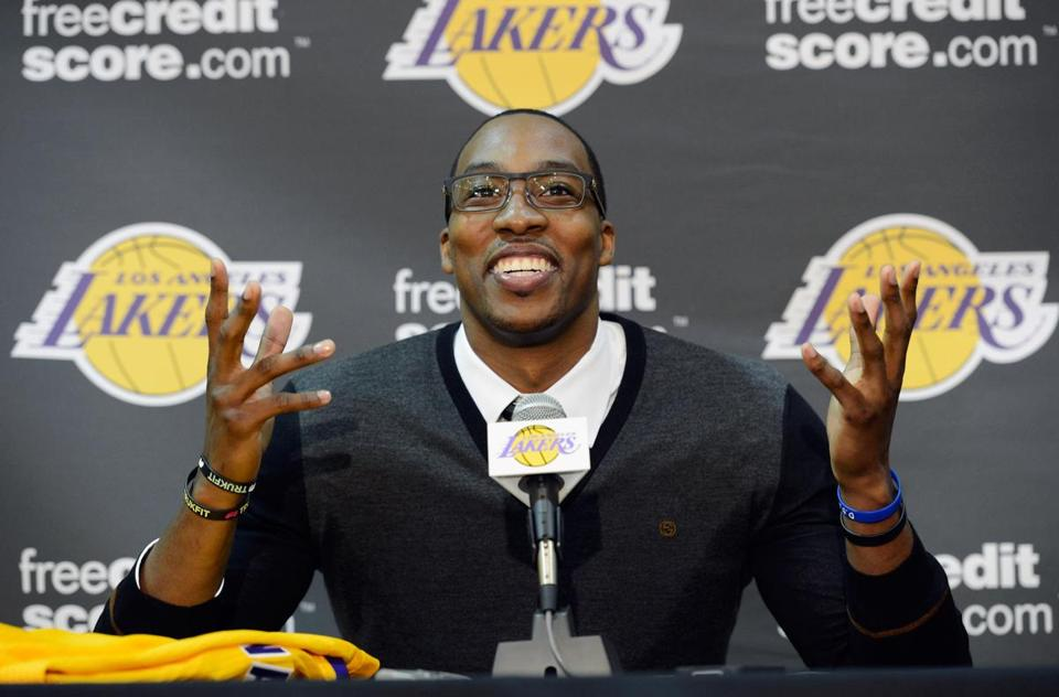 Dwight Howard joined the Lakers after a trade from the Magic.