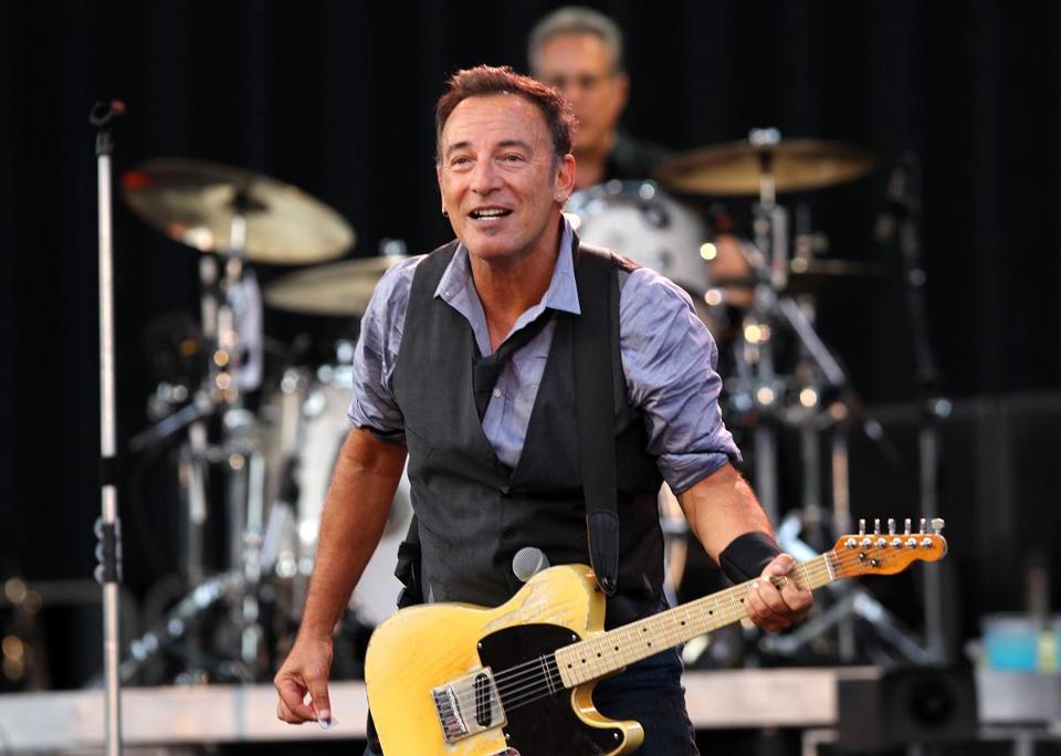 Bruce Springsteen at a concert in Fenway Park in August.