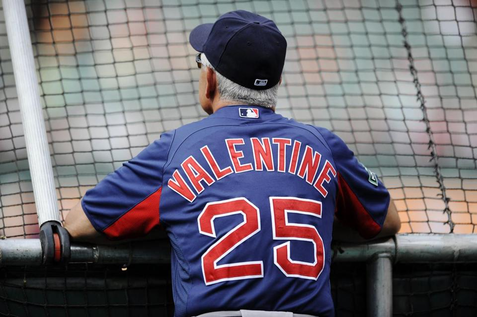 Bobby Valentine watched batting practice on Tuesday.