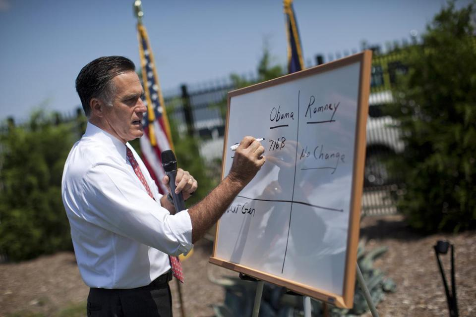 Mitt Romney talked about Medicare during a news conference Thursday at Spartanburg International Airport in Greer, S.C.