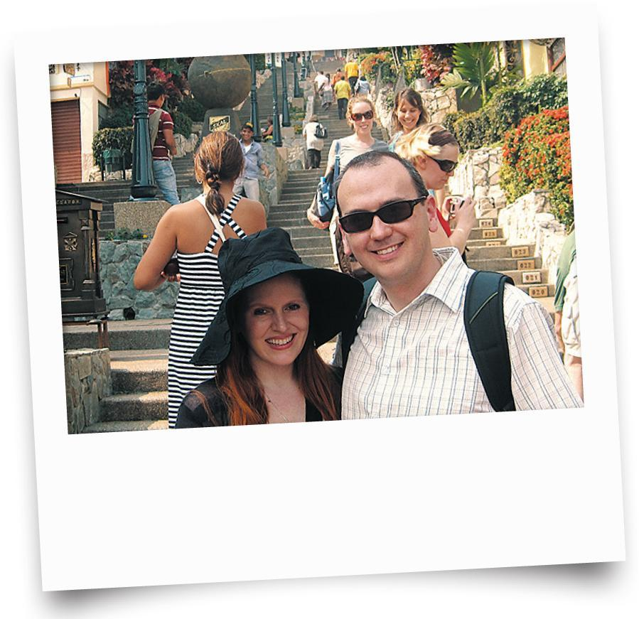 Nataly and Brian Kelly visited Ecuador in 2010. Her BlackBerry was stolen, freeing her from checking in at work.