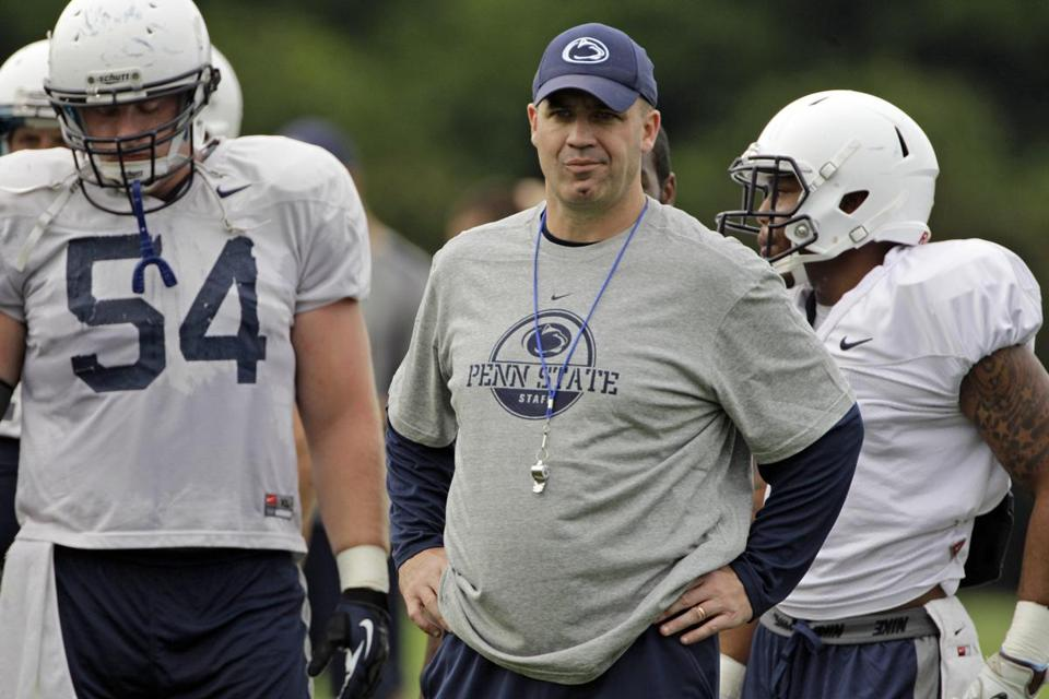 Bill O'Brien begins his tenure as Penn State coach with a four-year bowl ban hanging over him.