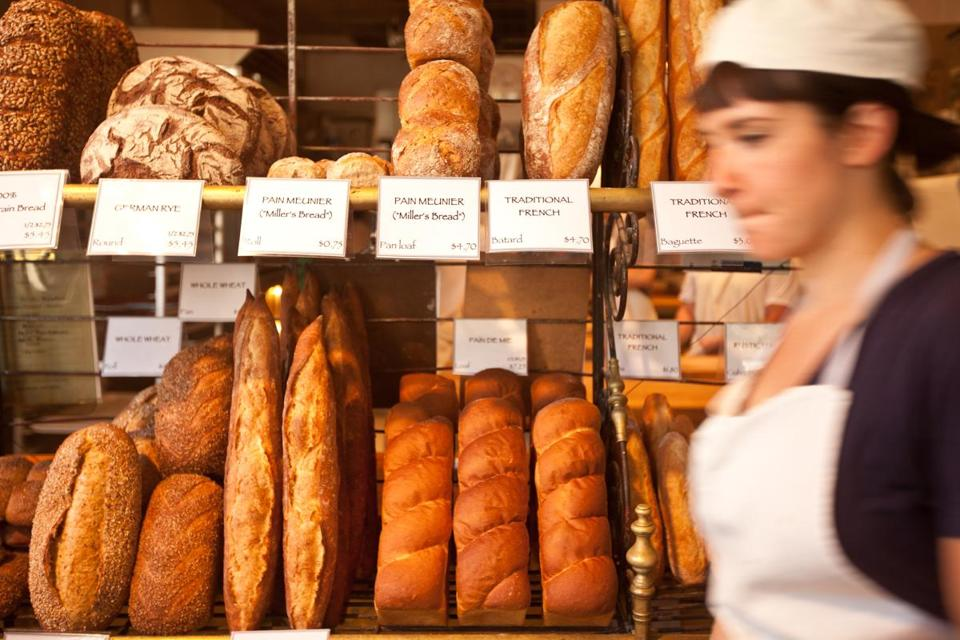 "At Clear Flour Bread in Brookline, the bread options vary greatly, from ""Miller's Bread"" to German Rye to loaves of whole wheat and multigrain varieties."