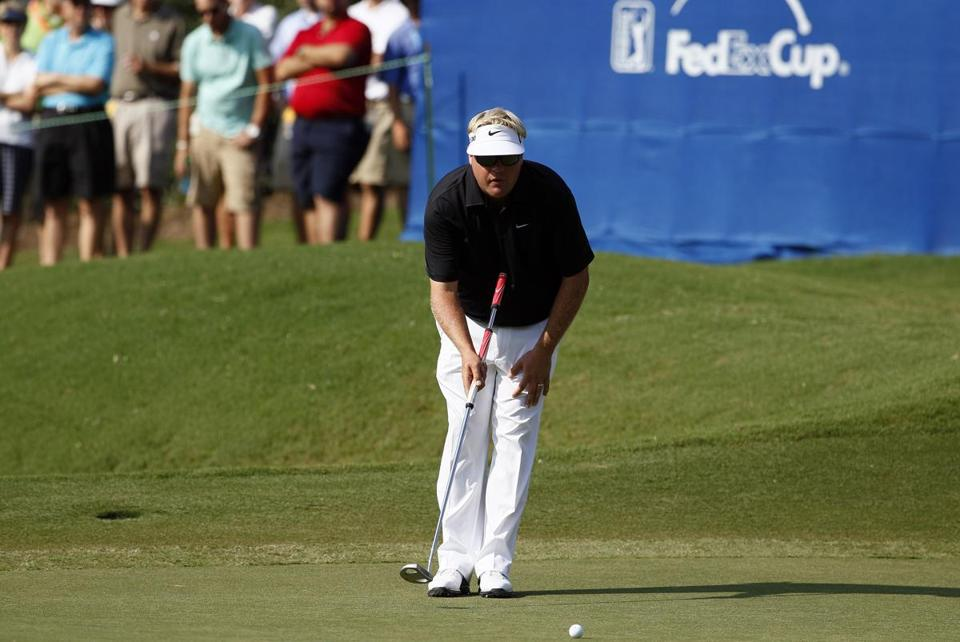 Carl Pettersson is one of many golfers now using a long putter.