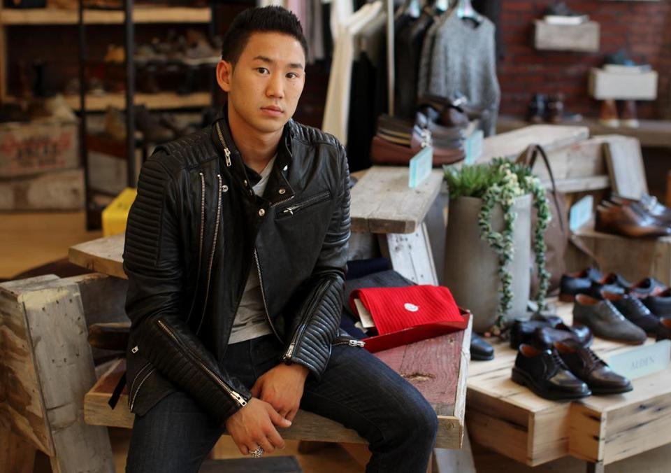 Chris Yang at the Tannery's Boylston Street shop.