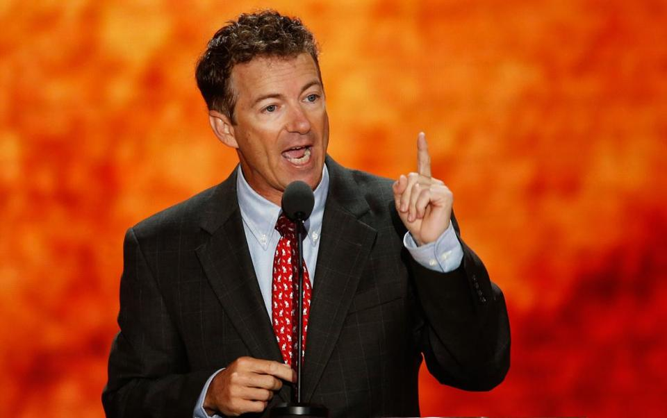 Senator Rand Paul of Kentucky addressed the convention on Wednesday.