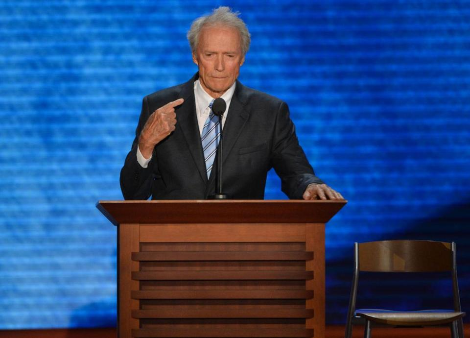 Clint Eastwood spoke at the Republican National Convention on Thursday.