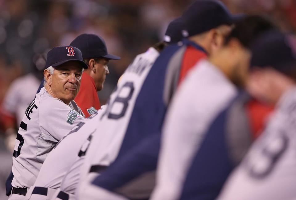 Bobby Valentine and the Red Sox were swept by the Angels in Anaheim this week.