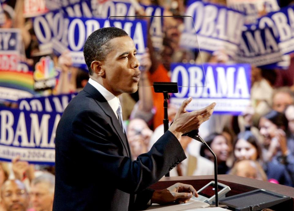 Obama's speech at the convention in 2004 electrified the audience and set the stage for his presidential run.