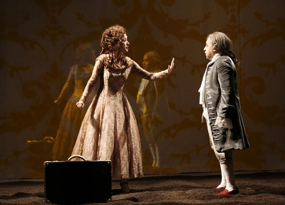"Brooke Bloom as the queen and Steven Rattazzi as Louis XVI in ""Marie Antoinette'' at the American Repertory Theater."