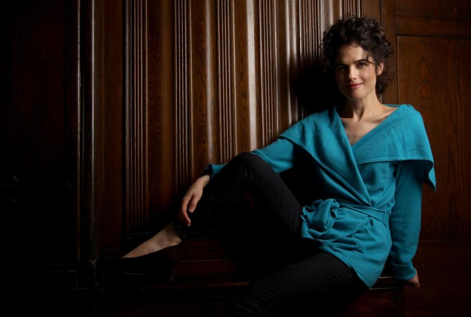Neri Oxman at her home in Brookline.
