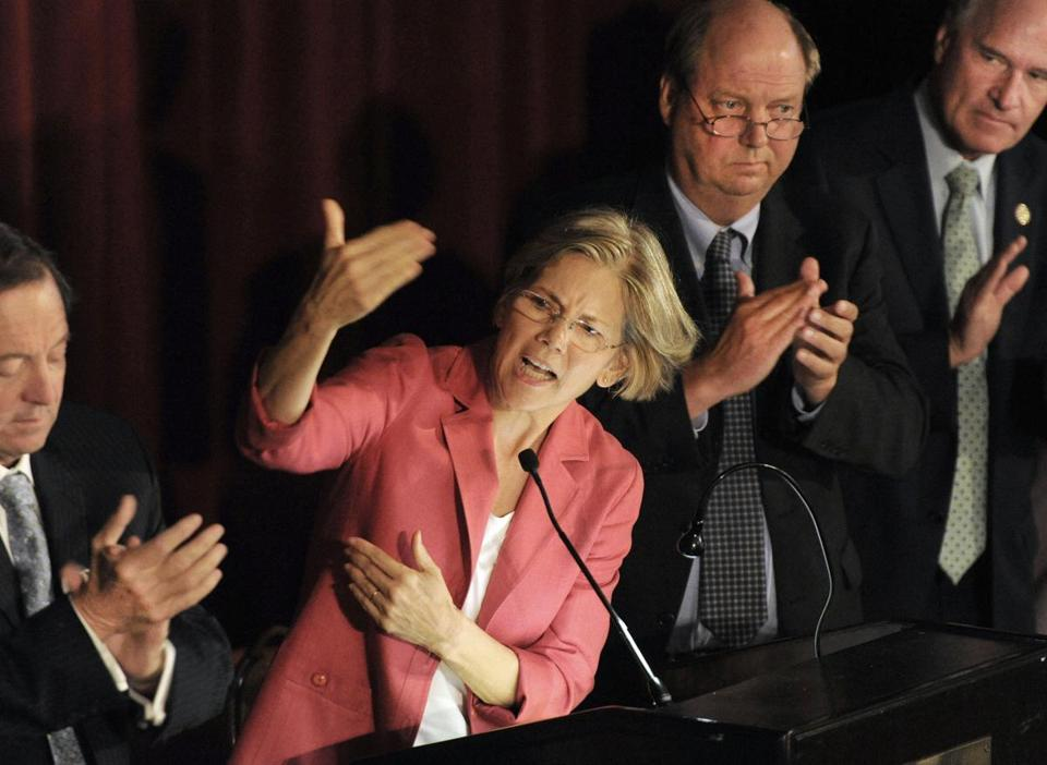 "Elizabeth Warren said she cares less about the truck her Senate opponent Scott Brown drives than ""about how he votes."""