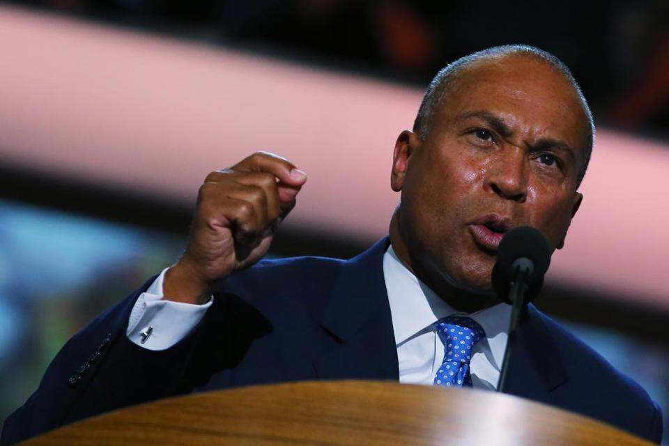Governor Deval Patrick spoke Tuesday night at the Democratic National Convention.