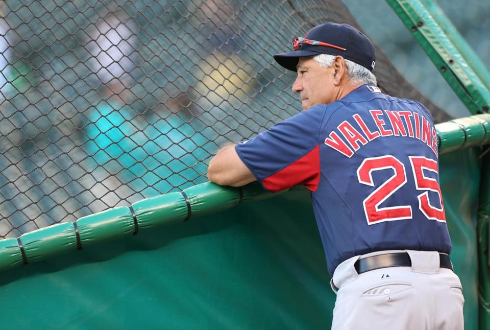 Bobby Valentine's Red Sox went 1-8 on their west coast road trip.