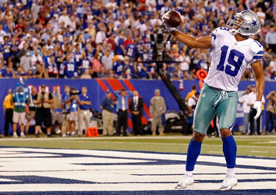Dalls wide receiver Miles Austin of the Dallas Cowboys reacted after scoring in the fourth quarter in East Rutherford, N.J., Wednesday.