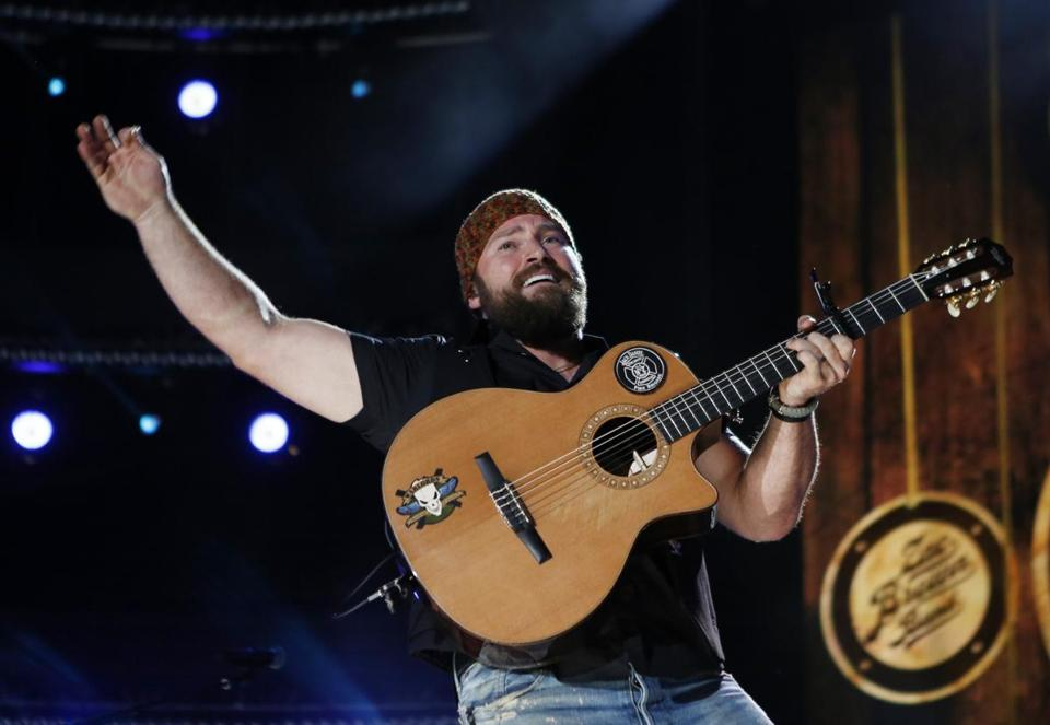 Zac Brown (pictured here in Nashville last June) and his band charmed the Comcast Center crowd on Sunday.