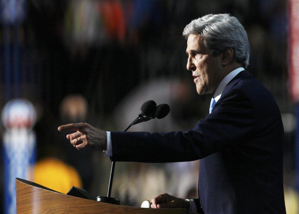 US Senator John Kerry of Massachusetts addressed the Democratic National Convention Thursday night.