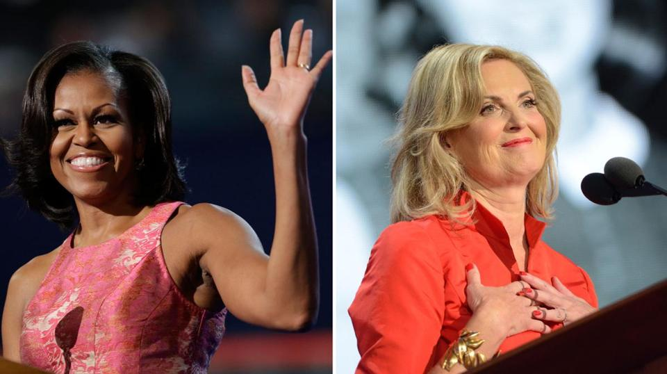 Michelle Obama and Ann Romney