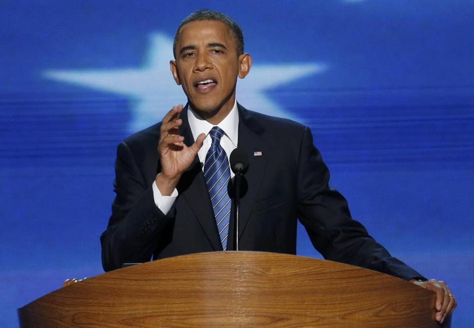 President Obama spoke at the Democratic National Convention on Thursday,