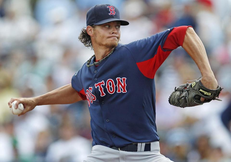 Baseball is less than 12 weeks away for starter Clay Buchholz and the Red Sox.
