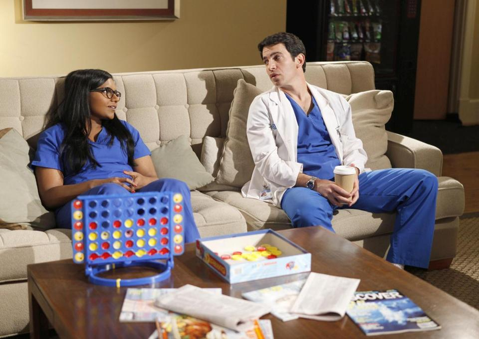 "Mindy Kaling plays Dr. Mindy Lahiri and Chris Messina is Dr. Danny Castellano in ""The Mindy Project"" on Fox."