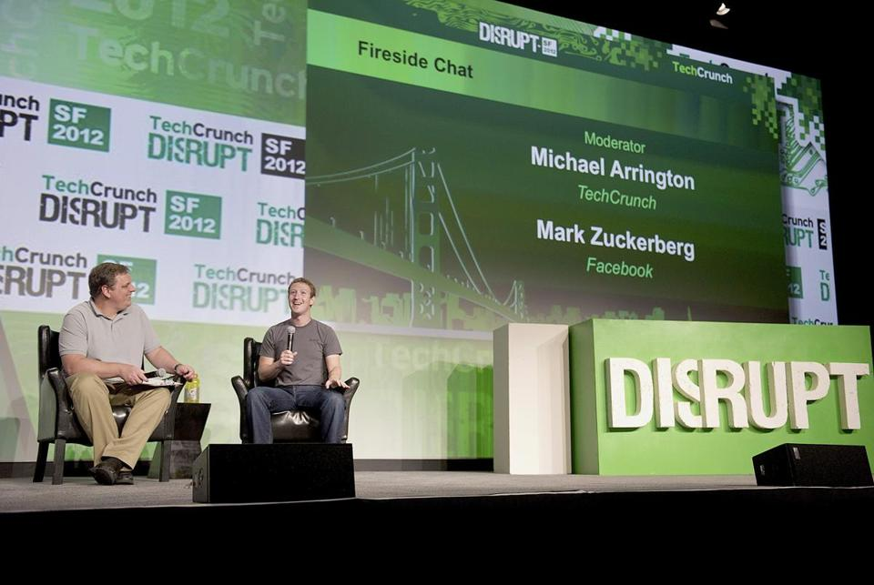 "''It's not like this is the first up and down we have ever had,"" CEO Mark Zuckerberg (right) said of Facebook's declining stock price since its initial public offering in May."
