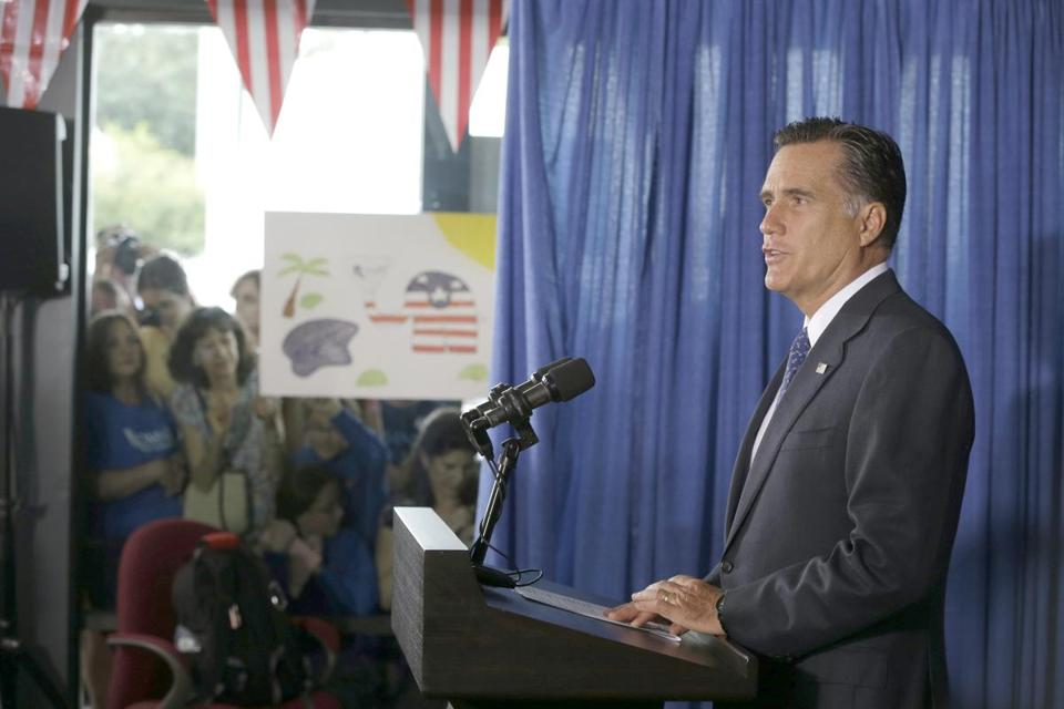 Mitt Romney commented on the killing of US embassy officials in Benghazi, Libya, while speaking in Jacksonville, Fla., Wednesday.