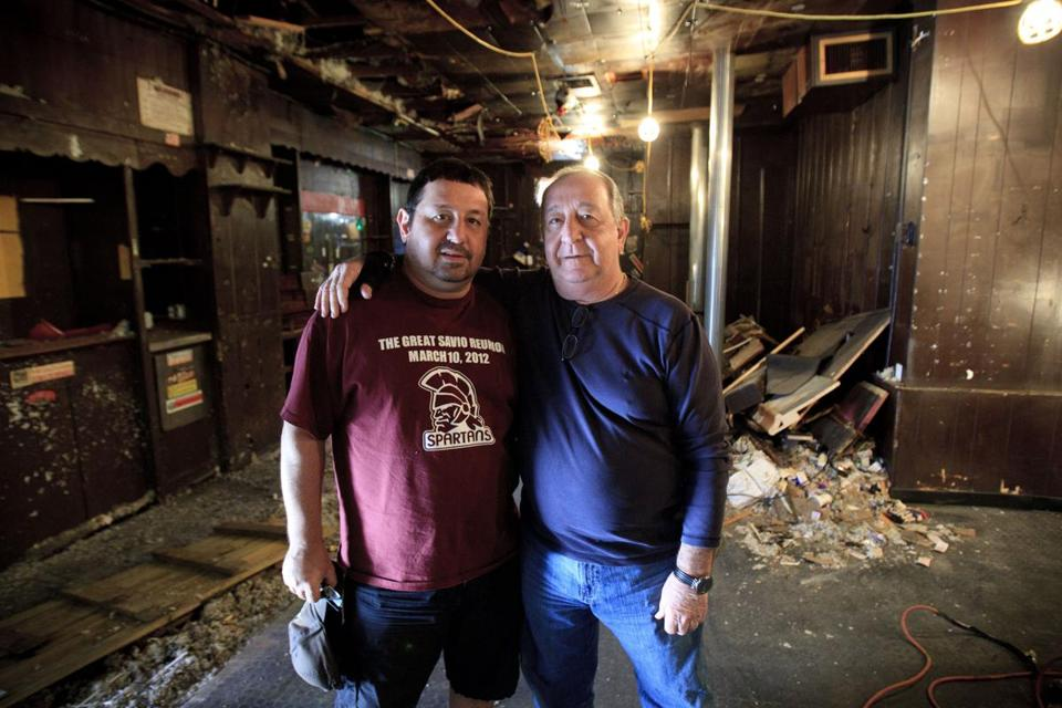 "Owners ""Little Tony"" and ""Big Tony"" Consalvi had hoped to rebuild the fire-damaged T.C.'s Lounge."
