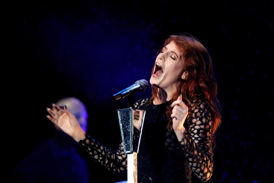 Florence Welch of Florence + the Machine (shown in England in August) displayed her considerable stage presence Friday at the Comcast Center.