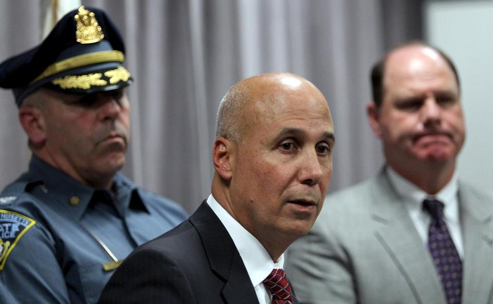 Members of the State Police held a press conference in August to announce that investigators discovered that drug evidence was tampered with.