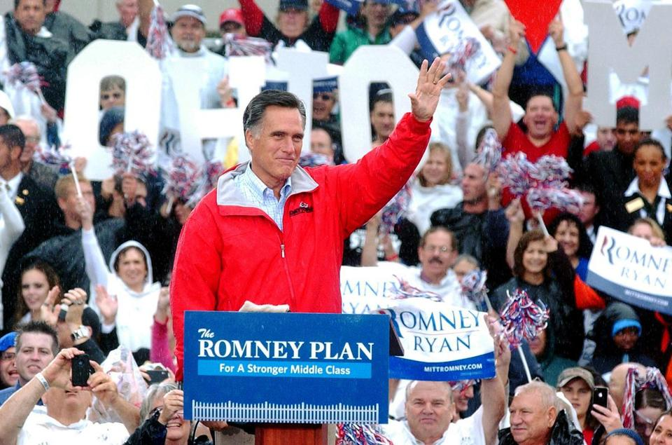 Mitt Romney addressed supporters Friday in  Painesville, Ohio.