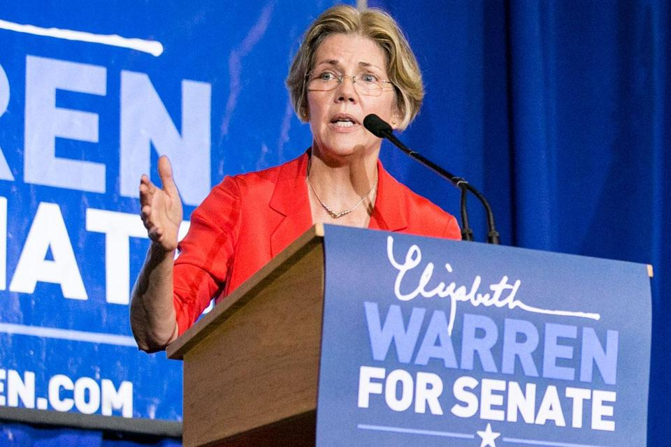 A Springfield Republican poll, taken Sept. 6 through Sept. 13 by the Western New England University Polling Institute, shows Warren leading Brown, a Republican, 50 percent to 44 percent among likely voters.