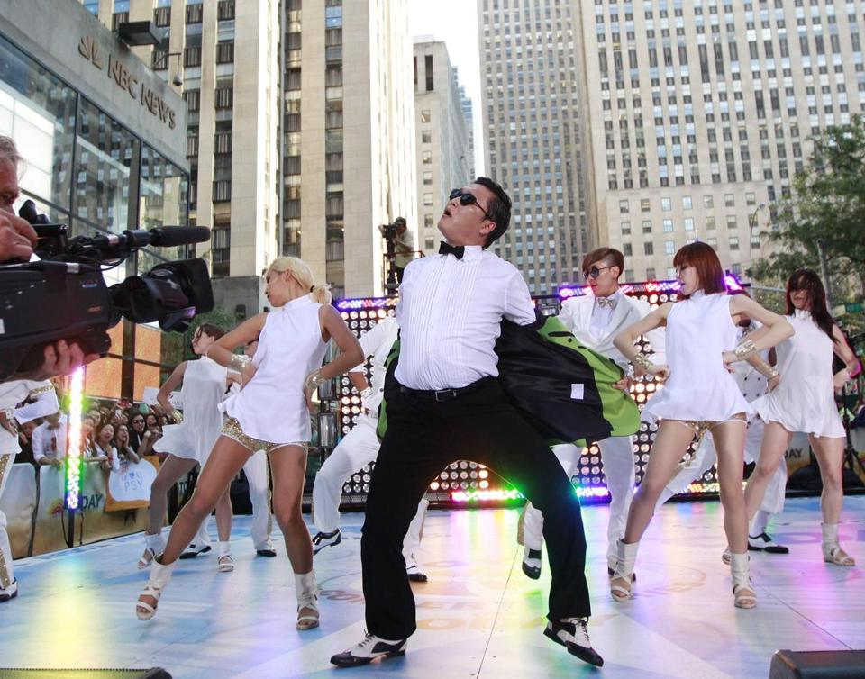 "Psy performing on NBC's 'Today"" show last week."