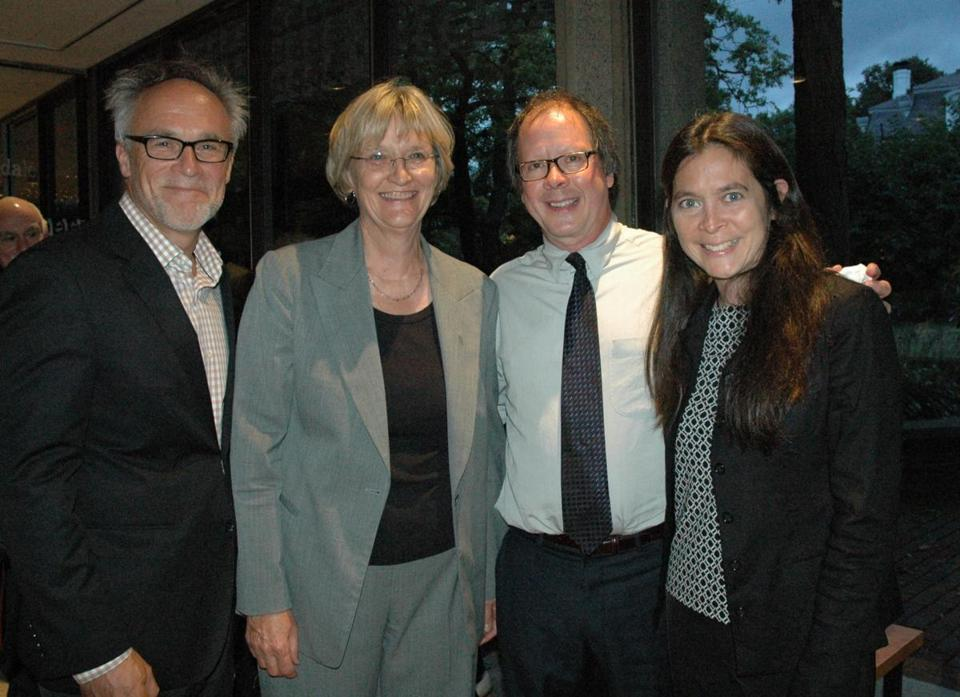 From left: Mark Samuels, Drew Faust, Ric Burns, and Diane Paulus.
