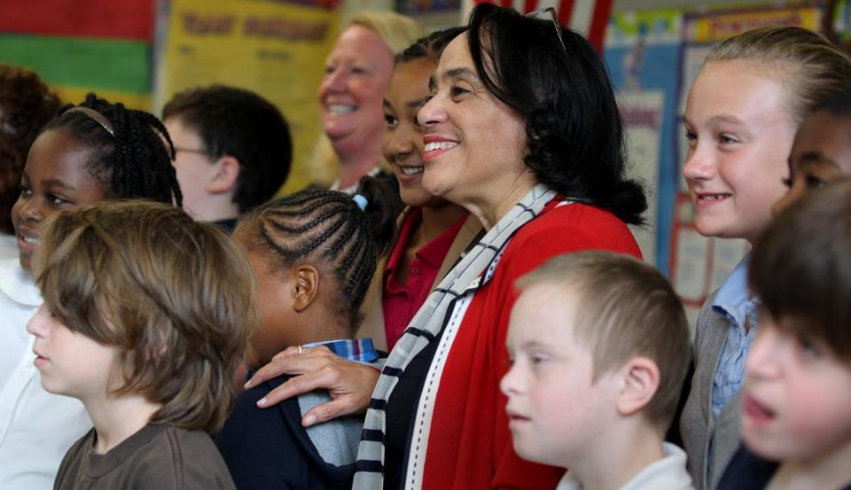 In September, Boston School Superintendent Dr. Carol R. Johnson made a surprise visit to the William W. Henderson Inclusion School in Dorchester.