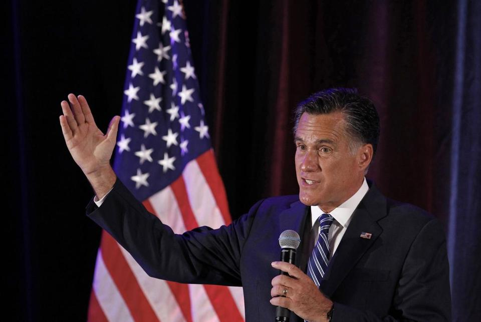 Mitt Romney was filmed without his knowledge during a $50,000-per-plate dinner in Boca Raton, Fla., on May 17.