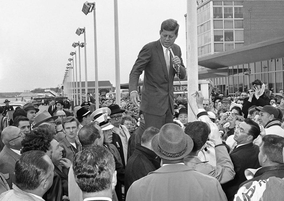 John F. Kennedy, shown in Toledo, Ohio, worked hard to hide his physical problems from reporters.