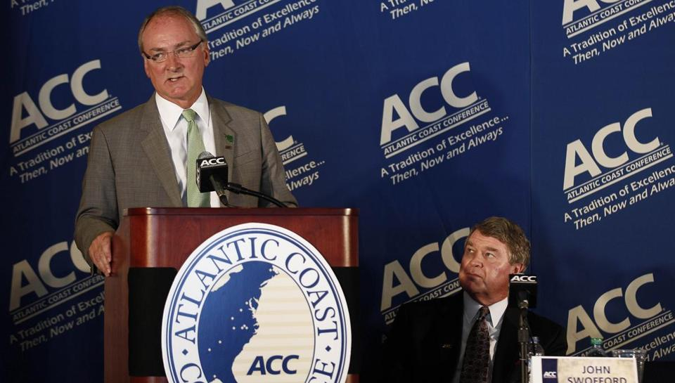 Notre Dame athletic director Jack Swarbrick forged a deal to align his school with the Atlantic Coast Conference.