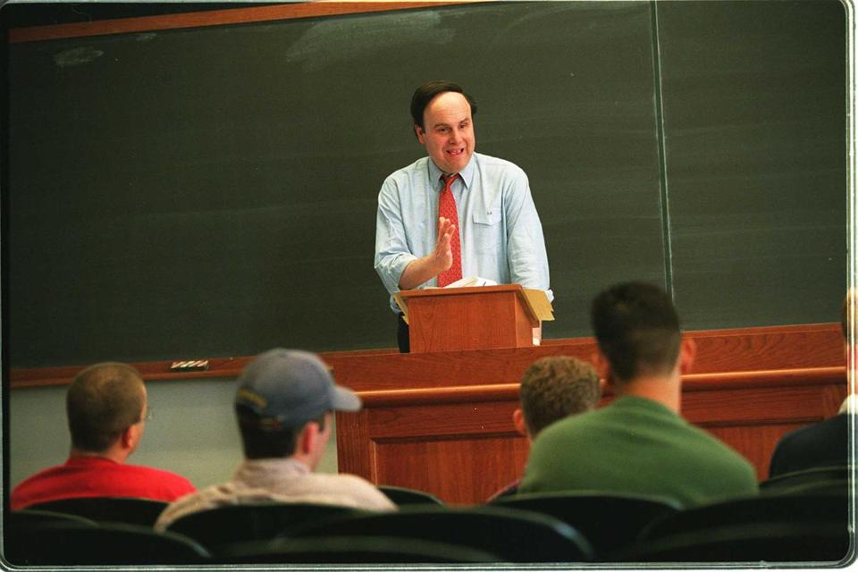 Dr. Medoff teaching his Harvard economics class in 1994.
