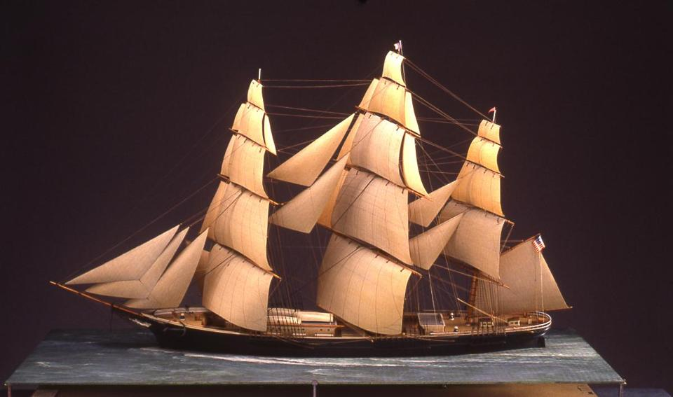 The Addison Gallery in Andover has a display of 22 different ship models in its basement.