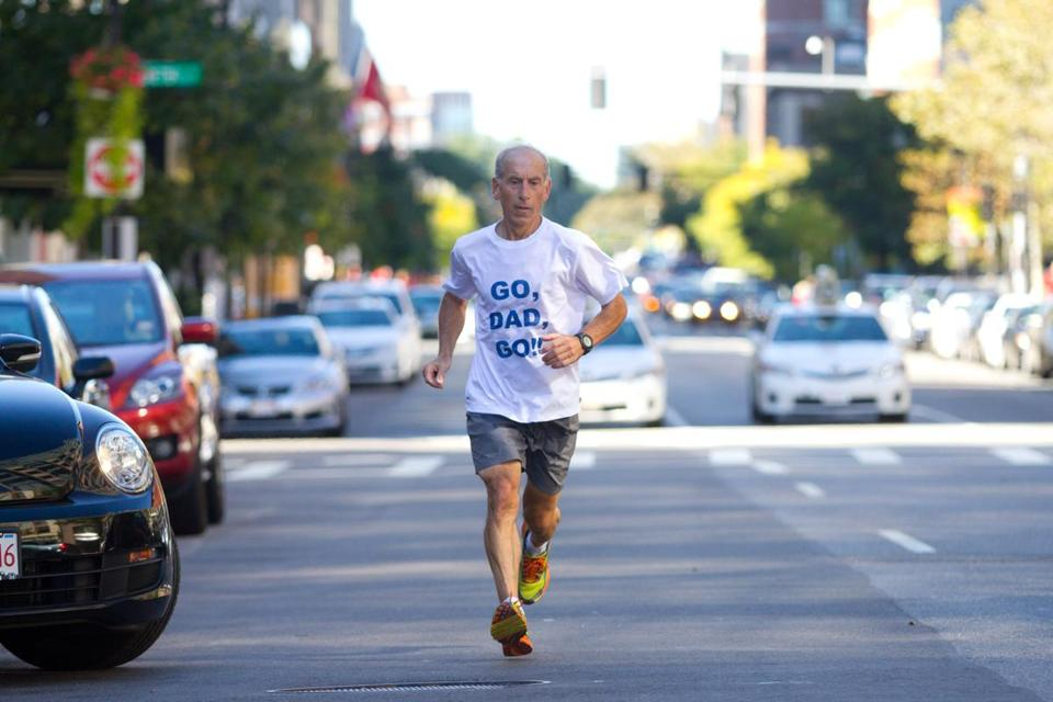"Hassan Haydar, who has run every Boston Marathon since 2001, says that because of running, ""I definitely have become a better person."""