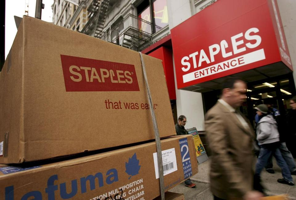 Framingham-based Staples is the office supply industry leader.