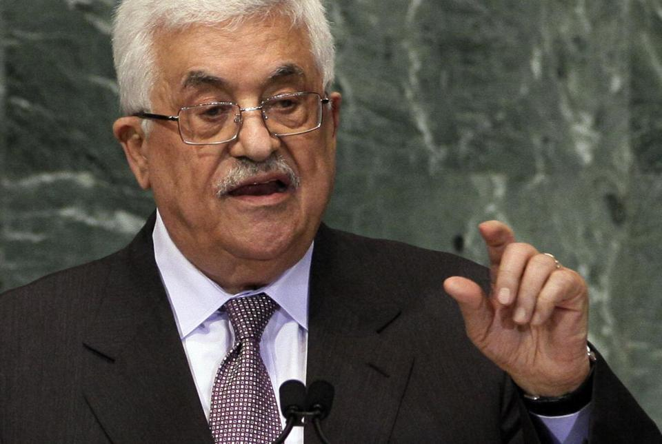 Palestinian President Mahmoud Abbas addresses the United Nations General Assembly Thursday.