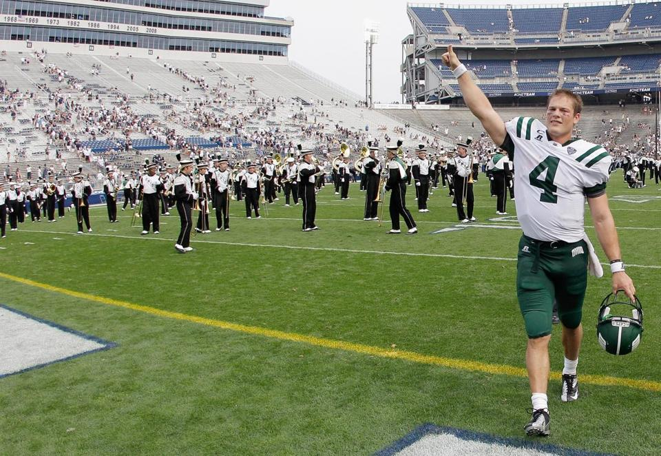 Quarterback Tyler Tettleton led Ohio to a comeback victory at Penn State in its opener.