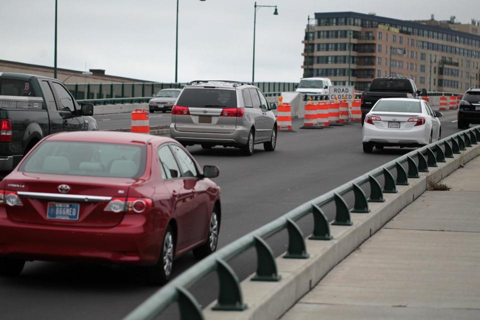 Construction has snarled traffic on the Neponset River Bridge, which links Quincy to Boston.