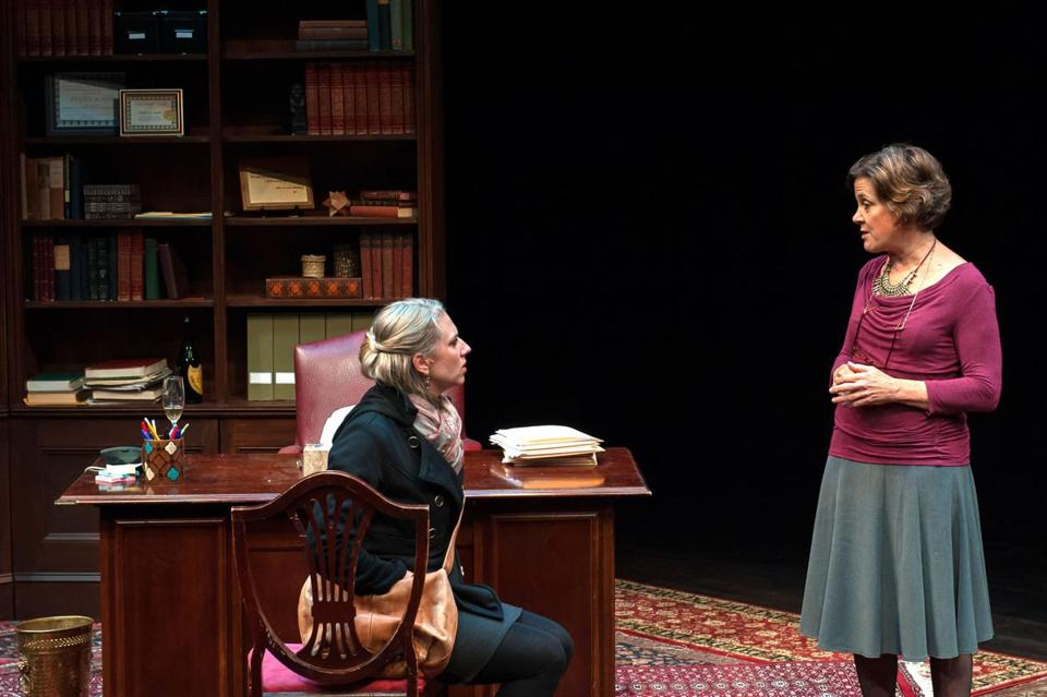 "Samantha Richert (left) and Debra Wise in the Nora Theatre Company's production of ""The How and the Why."""