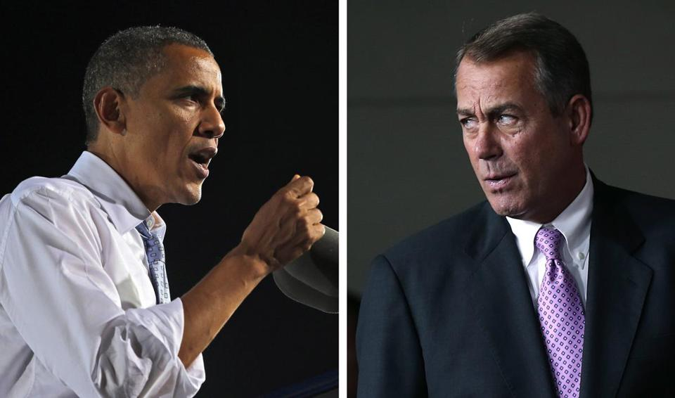 """The Price of Politics"" explores last summer's faceoff between President Obama and House Speaker John Boehner (right)."