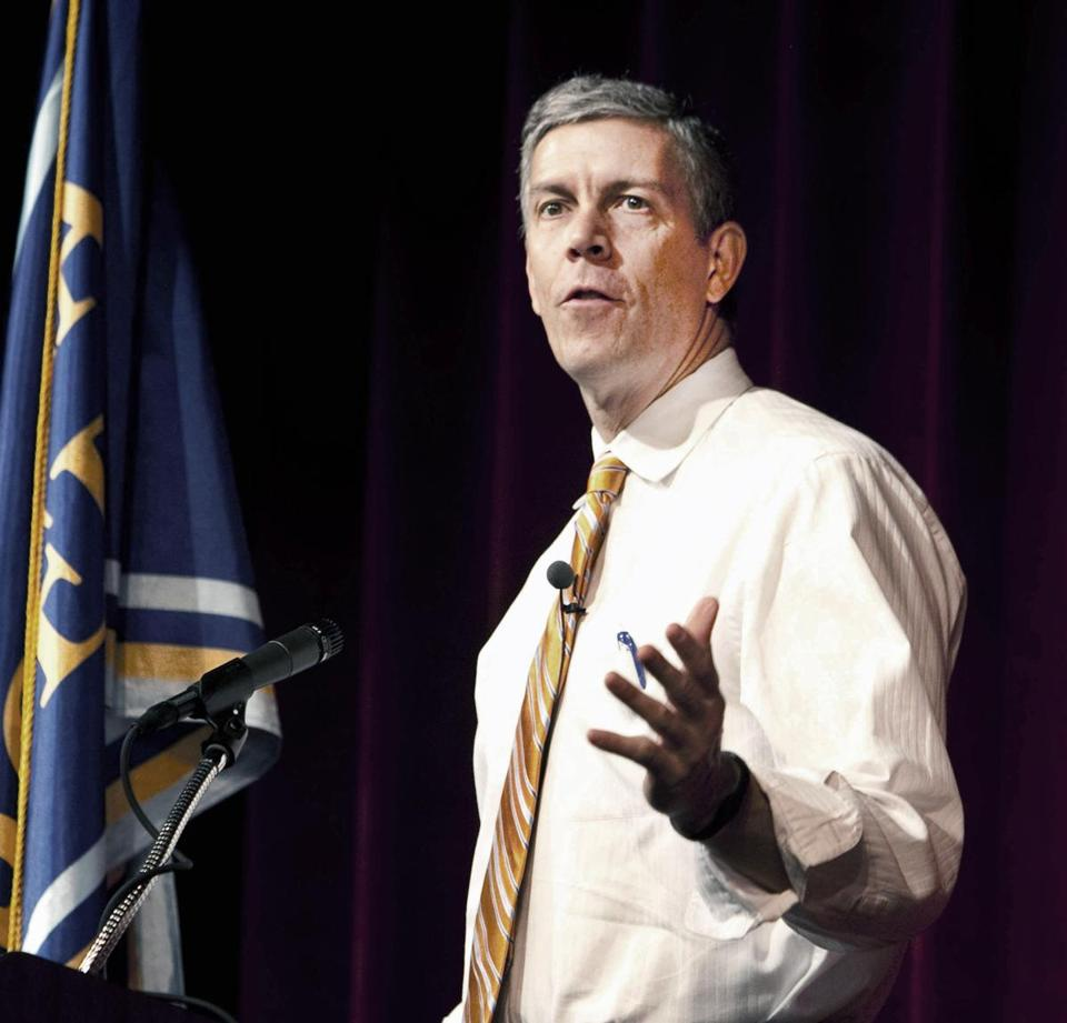 """The world is changing,"" Education Secretary Arne Duncan said. ""This has to be where we go as a country."""