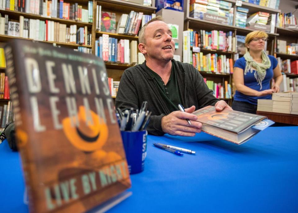 THRILLER: Author Dennis Lehane signs his new book for fans at Brookline Booksmith on October 1.