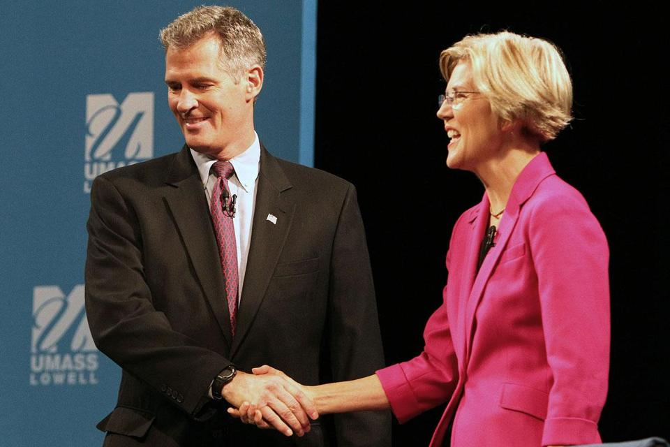 Senator Scott Brown and Elizabeth Warren traded jabs on her legal work, his tax votes, and a host of other issues.
